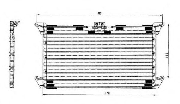 Радиатор кондиционера NRF 35062