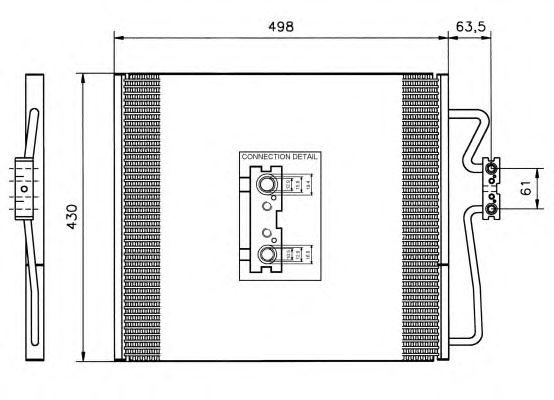 Радиатор кондиционера NRF 35148
