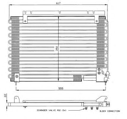 Радиатор кондиционера NRF 35191