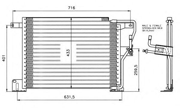 Радиатор кондиционера NRF 35221