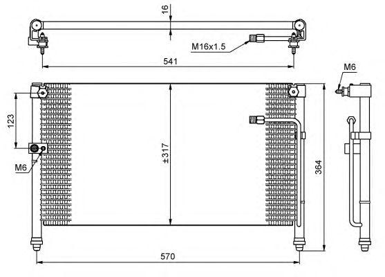 Радиатор кондиционера NRF 35223