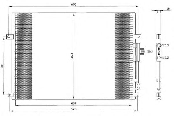 Радиатор кондиционера NRF 35275