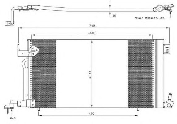 Радиатор кондиционера NRF 35303