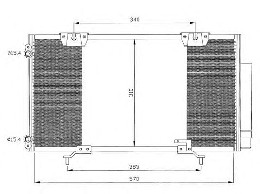 Радиатор кондиционера NRF 35337