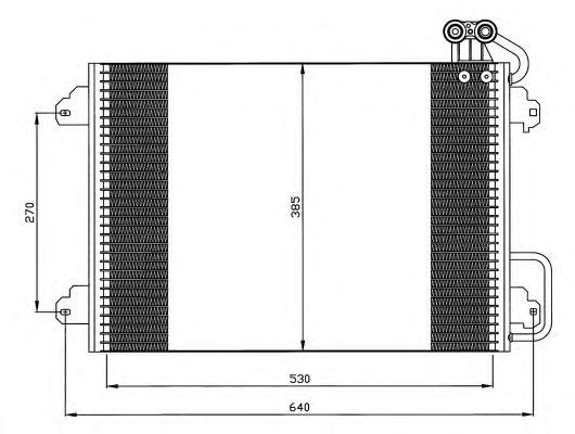 Радиатор кондиционера NRF 35340