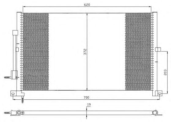 Радиатор кондиционера NRF 35365