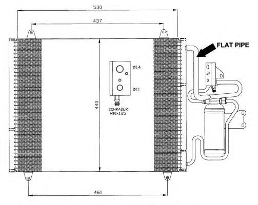 Радиатор кондиционера NRF 35421