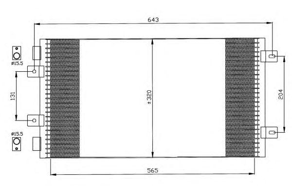 Радиатор кондиционера NRF 35442