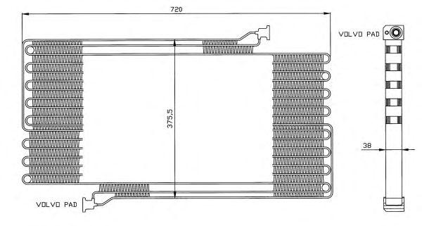 Радиатор кондиционера NRF 35472