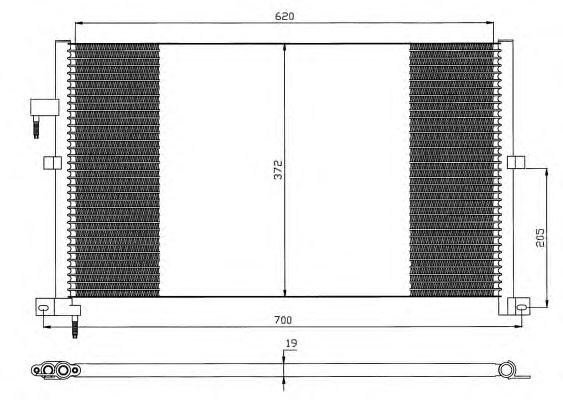 Радиатор кондиционера NRF 35525