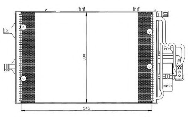 Радиатор кондиционера NRF 35529