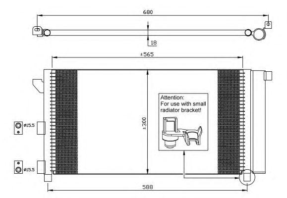 Радиатор кондиционера NRF 35546