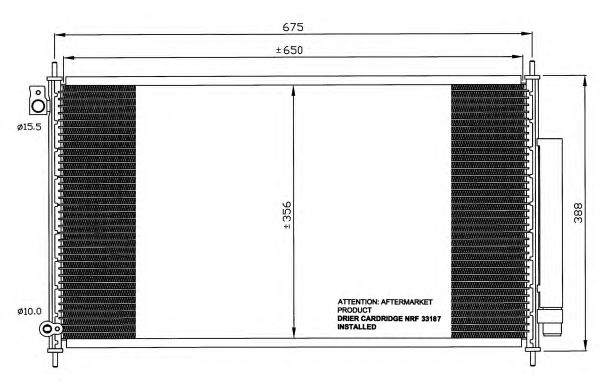 Радиатор кондиционера NRF 35559