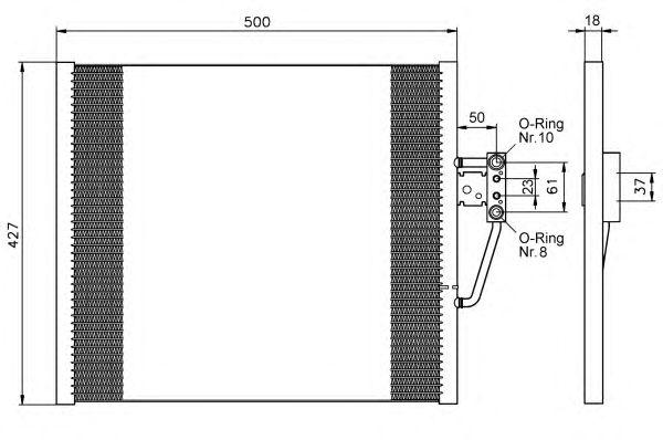 Радиатор кондиционера NRF 35585