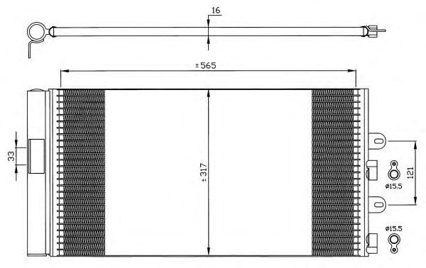 Радиатор кондиционера NRF 35606