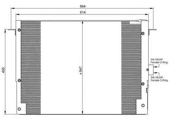 Радиатор кондиционера NRF 35657