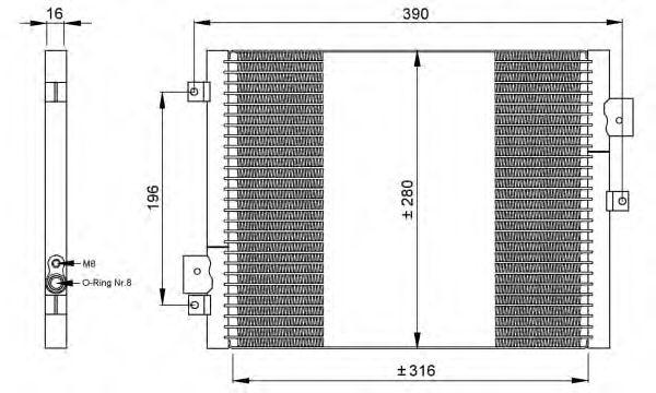 Радиатор кондиционера NRF 35795