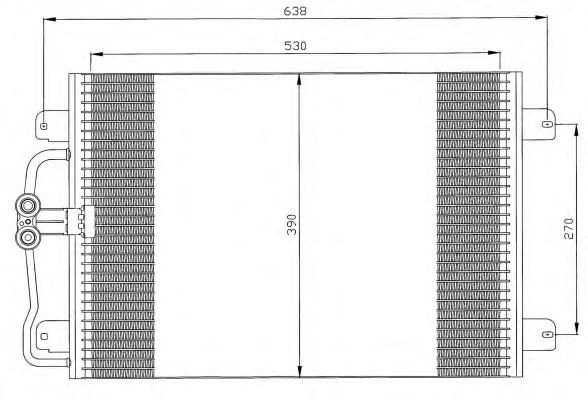 Радиатор кондиционера NRF 35832