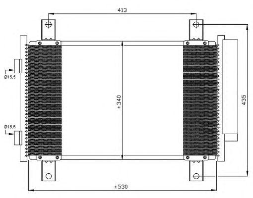 Радиатор кондиционера NRF 35840