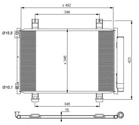 Радиатор кондиционера NRF 35854