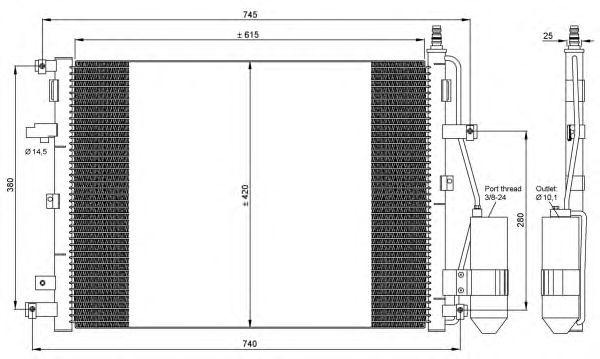 Радиатор кондиционера NRF 35876
