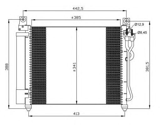 Радиатор кондиционера NRF 35888