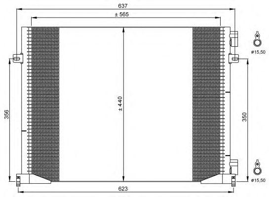 Радиатор кондиционера NRF 35914