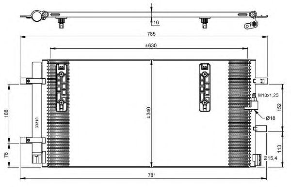 Радиатор кондиционера NRF 35916