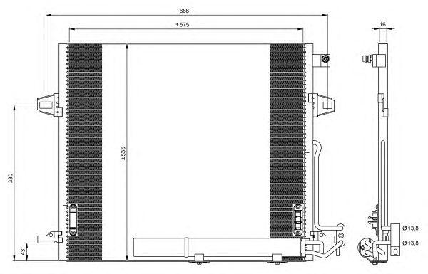 Радиатор кондиционера NRF 35927