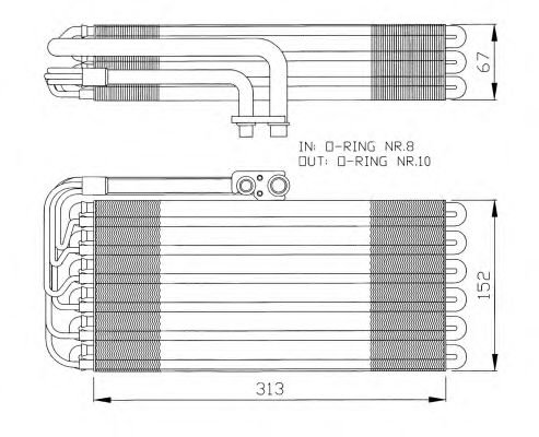 Испаритель кондиционера NRF 36064