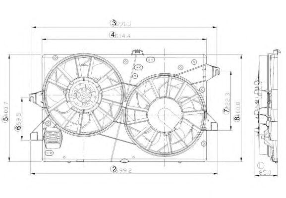 Вентилятор охлаждения NRF 47000