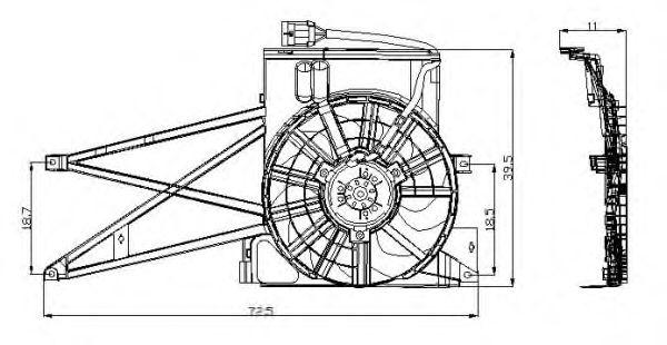 Вентилятор охлаждения NRF 47013