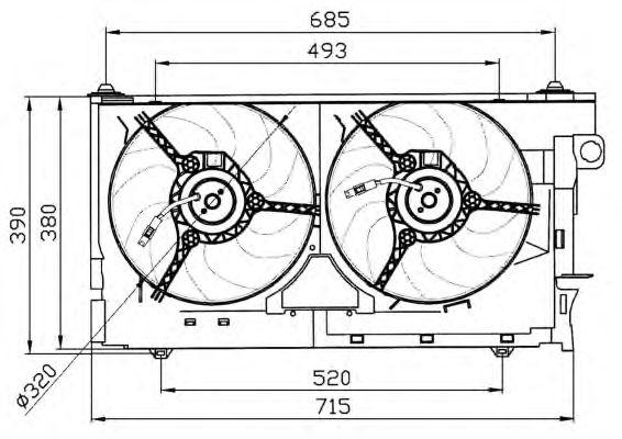 Вентилятор охлаждения NRF 47030
