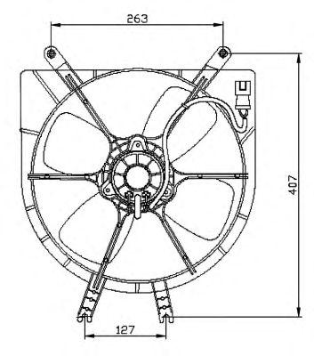 Вентилятор охлаждения NRF 47042