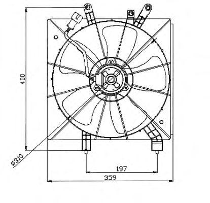 Вентилятор охлаждения NRF 47043