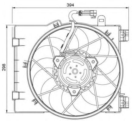 Вентилятор охлаждения NRF 47063