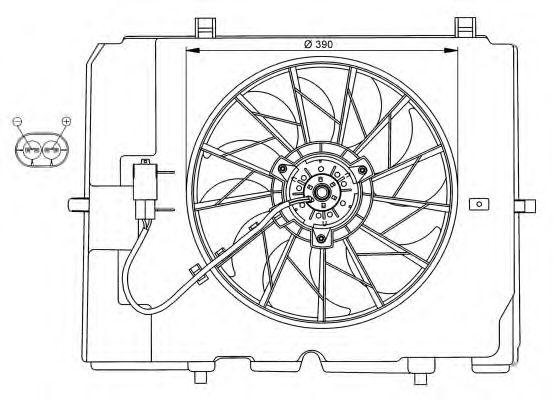 Вентилятор охлаждения NRF 47067