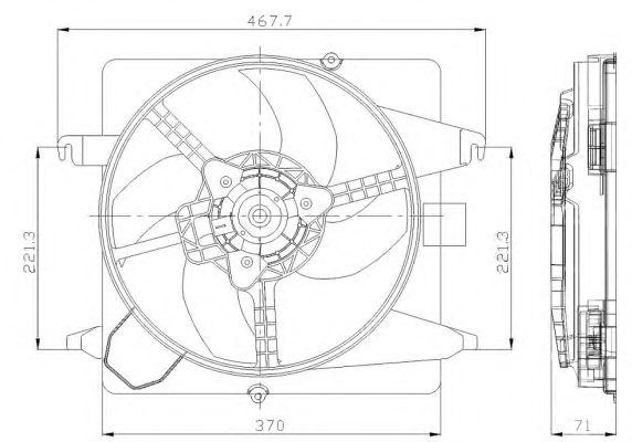 Вентилятор охлаждения NRF 47259