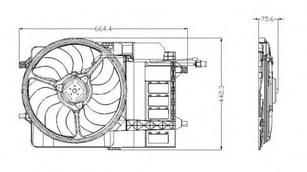 Вентилятор охлаждения NRF 47302