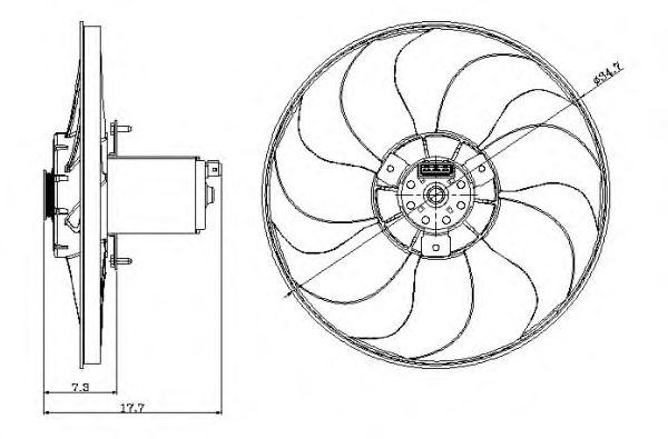 Вентилятор охлаждения NRF 47404