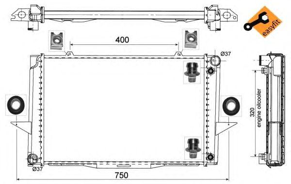 Радиатор, охлаждение двигателя NRF 529509
