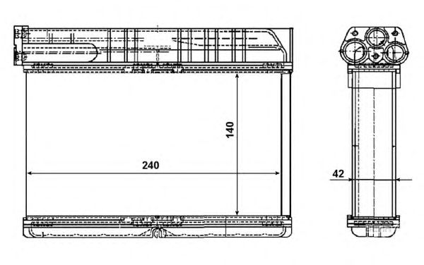 Радиатор отопителя NRF 54235