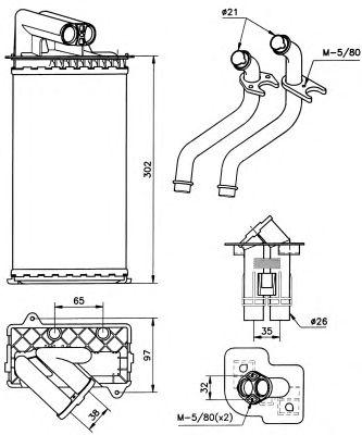 Радиатор отопителя NRF 58081