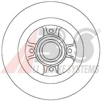Тормозной диск A.B.S. 17029