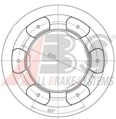 Тормозной диск A.B.S. 17941