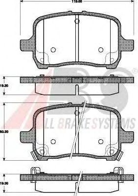 Тормозные колодки A.B.S. 37581