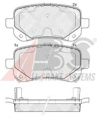 Тормозные колодки A.B.S. 37733
