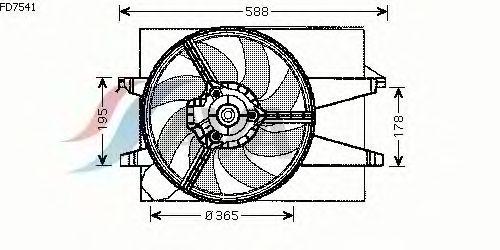 Вентилятор охлаждения AVA QUALITY COOLING FD7541