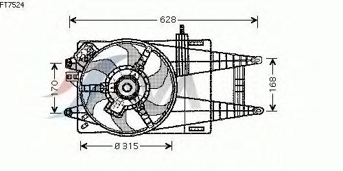 Вентилятор охлаждения AVA QUALITY COOLING FT7524