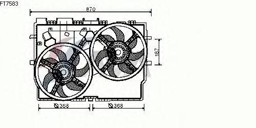 Вентилятор охлаждения AVA QUALITY COOLING FT7583